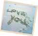 love you in the sand
